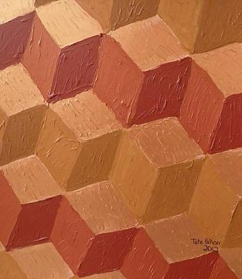 Painting - Copper Cubes by Tate Fallon