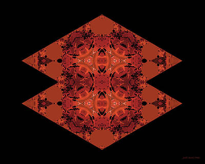 Digital Art - Copper Double Diamond Abstract by Judi Suni Hall