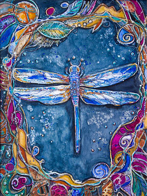 Copper Dragonfly Art Print by Patricia Allingham Carlson