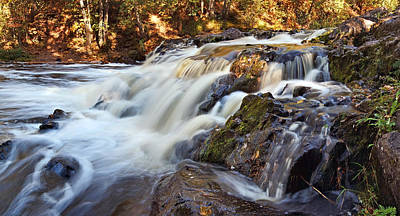 Photograph - Copper Falls In Fall by Theo OConnor