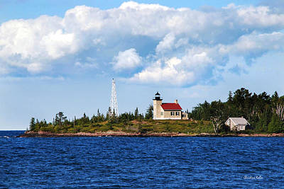 Copper Harbor Lighthouse Art Print by Christina Rollo