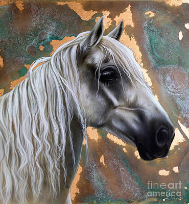 Copper Horse Art Print by Sandi Baker