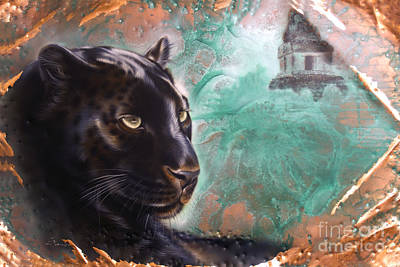 Painting - Copper Jaguar by Sandi Baker