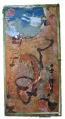 Collage Mixed Media - Copper Moon by Susan Parise