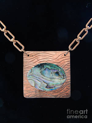 Jewelry - Copper Pearl Pendant by Patricia  Tierney