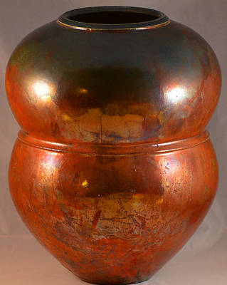 Raku Photograph - Copper Penny Gloss 2 by Chris Tennis