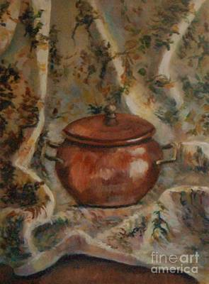 Copper Pot Art Print by Jana Baker