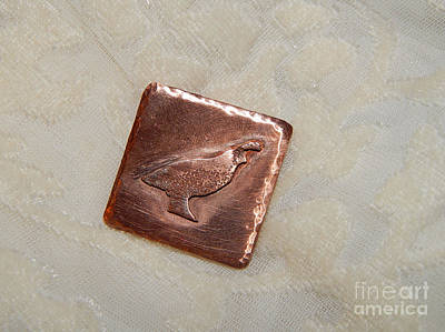 Jewelry - Copper Quail by Patricia  Tierney