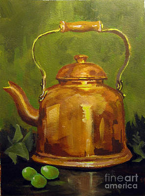 Painting - Copper Teakettle by Carol Hart