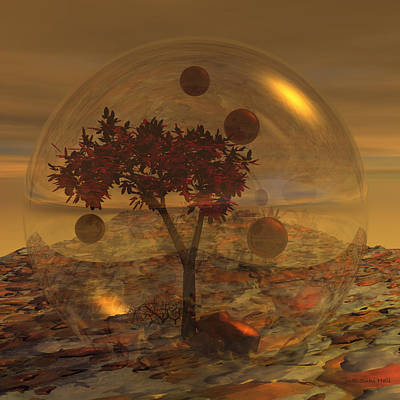 Digital Art - Copper Terrarium by Judi Suni Hall