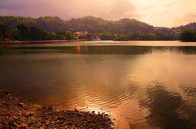 Photograph - Copper Waters Of Kandy Lake. Kandy. Sri Lanka by Jenny Rainbow