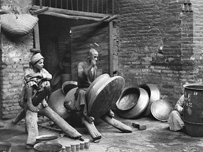 Copper Workers In Baghdad Art Print by Underwood Archives