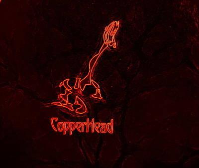 Copperhead Art Print by Rosemarie E Seppala
