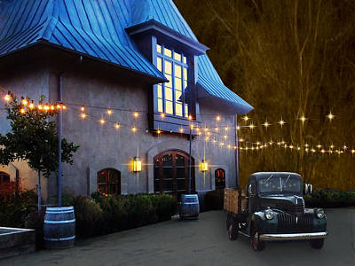Coppola Winery Art Print by Judy  Johnson