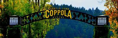Coppola Winery Two Art Print by Antonia Citrino