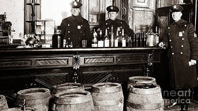 20s Photograph - Cops At The Bar by Jon Neidert