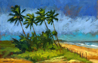 Stormy Tree Painting - Coqueiros De Massarandupio by Douglas Simonson