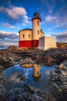 Photograph - Coquille Lighthouse by Darren  White