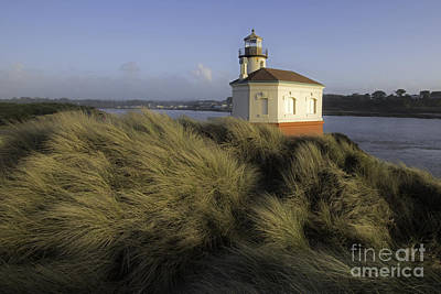 Tim Moore Photograph - Coquille River Light House by Tim Moore