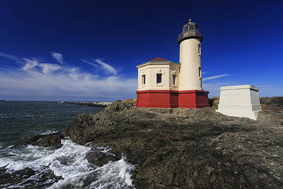 Lighthouses Photograph - Coquille River Lighthouse 3 by Mark Kiver