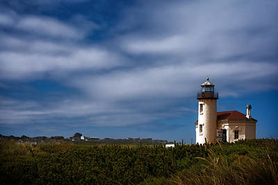Coquille River Lighthouse Original by Joan Carroll