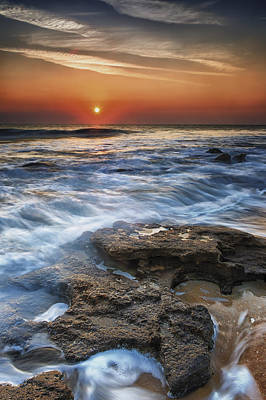 Coquina Sunrise II Art Print by Mike Lang