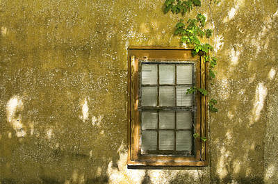 Stone Buildings Photograph - Coquina Wall And Window by Rich Franco