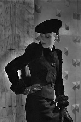 Cora Hemmet In Schiaparelli Art Print by Horst P. Horst