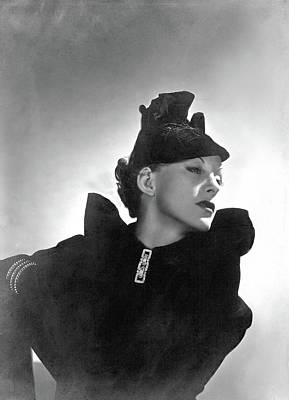 Cora Hemmet Wearing Reboux And Boucheron Art Print by Horst P. Horst