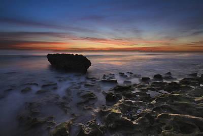 Coral Cove Beach At Dawn Art Print by Debra and Dave Vanderlaan