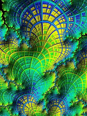 Digital Art - Coral Electric by Susan Maxwell Schmidt