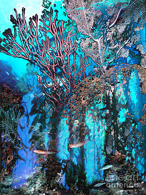 Digital Art - Coral Forest by Ursula Freer