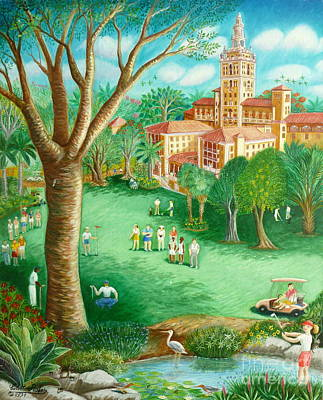 Limbo Painting - Coral Gables Biltmore Hotel by Colette Raker