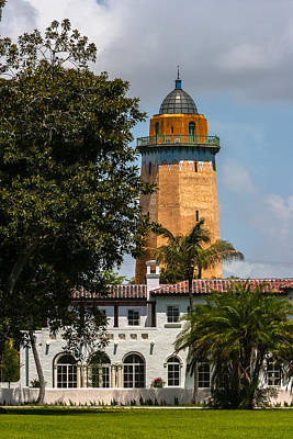 Photograph - Coral Gables House And Water Tower by Ed Gleichman