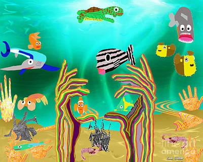 Coral Hands Art Print