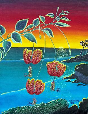 Painting - Coral Hibiscus by Thomas F Kennedy