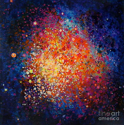 Outer Space Painting - Coral Nebula #2 by Freddie Lieberman