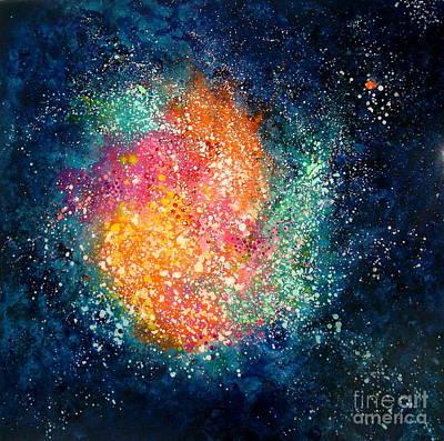 Coral Nebula Art Print by Freddie Lieberman