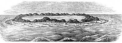 1842 Photograph - Coral Reef Creating A Lagoon by Universal History Archive/uig