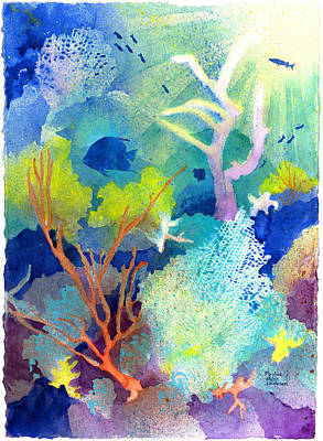 Painting - Coral Reef Dreams 1 by Pauline Walsh Jacobson