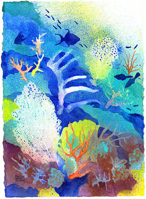 Painting - Coral Reef Dreams 3 by Pauline Walsh Jacobson