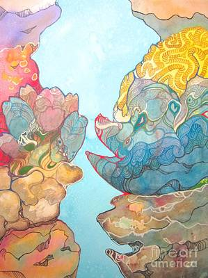 Coral Reef Small Art Print by Maya Simonson