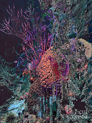 Digital Art - Coral Reef by Ursula Freer
