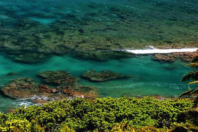 Photograph - Coral Reefs Ke E Beach Napali Coast Summer by Robert Lozen