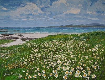 Painting - Coral Strand On A Windy Day Connemara by Diana Shephard