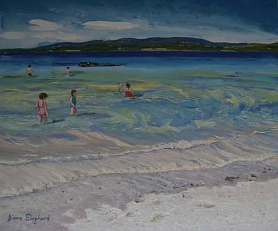 Painting - Coral Strand Swimmers Connemara Ireland by Diana Shephard
