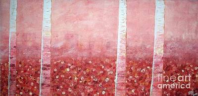 Sofa Size Painting - Coral Trees by Tracee Baugh