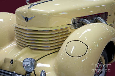 Cord 812 Oldtimer From 1937 Front Art Print by Heiko Koehrer-Wagner
