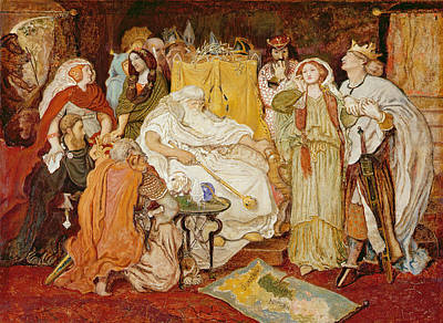 Old Map Painting - Cordelias Portion, C.1867-75 by Ford Madox Brown
