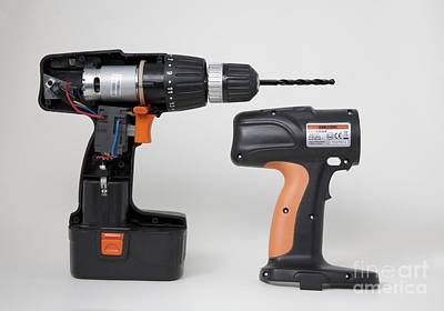 Cordless Drill Components Art Print by Sheila Terry